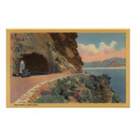 View of Cave Rock Tunnel from Hwy Print