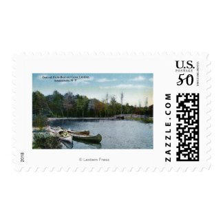 View of Central Park Boat & Canoe Landing Postage