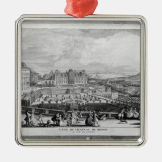 View of Chateau de Meudon Metal Ornament