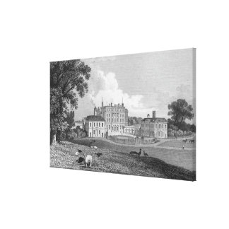 View of Chevening Place, engraved by S. Lacy Canvas Print