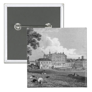 View of Chevening Place, engraved by S. Lacy Pinback Button