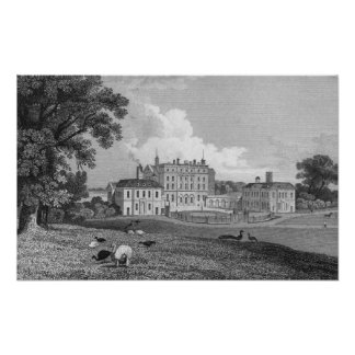 View of Chevening Place, engraved by S. Lacy Poster