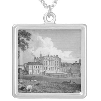 View of Chevening Place, engraved by S. Lacy Silver Plated Necklace