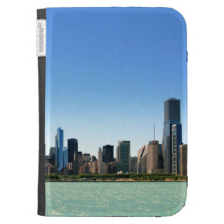 View of Chicago skyline by Lake Michigan Kindle 3 Case