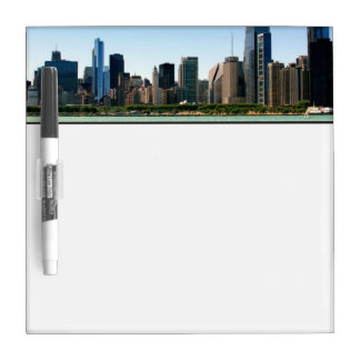 View of Chicago skyline by Lake Michigan Dry-Erase Board
