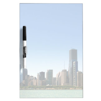View of Chicago skyline by Lake Michigan Dry Erase Board