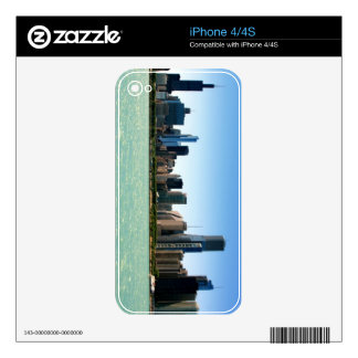 View of Chicago skyline by Lake Michigan iPhone 4S Skins