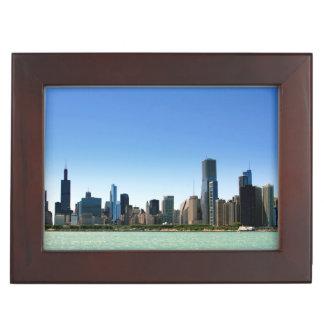 View of Chicago skyline by Lake Michigan Memory Box