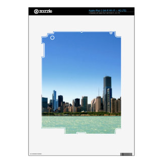 View of Chicago skyline by Lake Michigan Skins For iPad 3