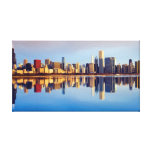 View of Chicago skyline with reflection Canvas Prints