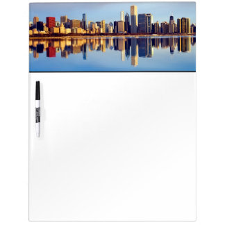 View of Chicago skyline with reflection Dry-Erase Board