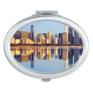 View of Chicago skyline with reflection Vanity Mirrors