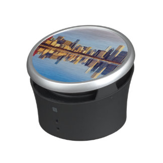 View of Chicago skyline with reflection Speaker