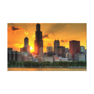 View of Chicago's skyline from  Adler Canvas Print