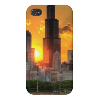 View of Chicago's skyline from  Adler Covers For iPhone 4