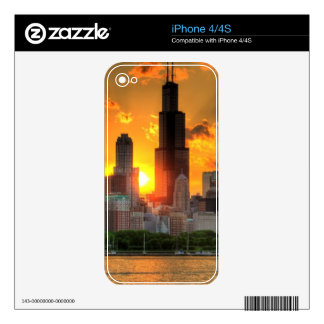 View of Chicago's skyline from  Adler Decal For The iPhone 4