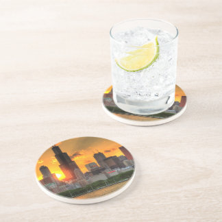 View of Chicago's skyline from  Adler Drink Coaster