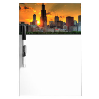 View of Chicago's skyline from  Adler Dry Erase Board