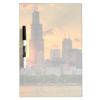 View of Chicago's skyline from  Adler Dry-Erase Board