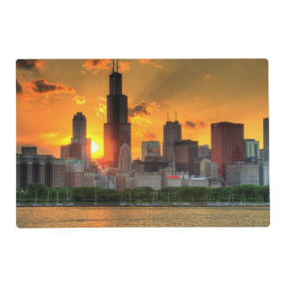 View of Chicago's skyline from  Adler Laminated Placemat
