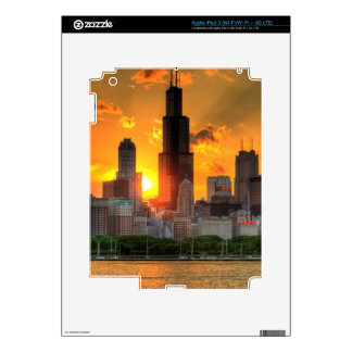 View of Chicago's skyline from  Adler iPad 3 Decal