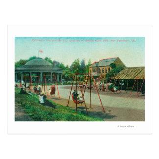 View of Children's Playground at Golden Gate Postcard