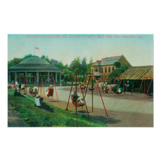View of Children's Playground at Golden Gate Poster
