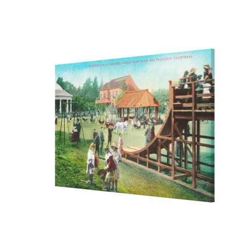 View of Children's Playground Canvas Print