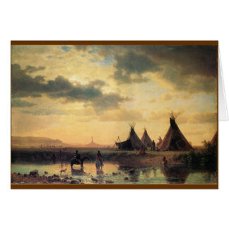 View of Chimney Rock by Albert Bierstadt Card