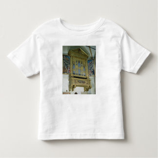 View of church organ, c.1590 toddler t-shirt