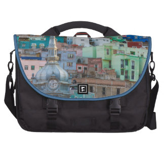 View of city buildings commuter bags