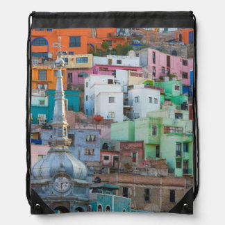 View of city buildings drawstring backpack