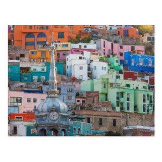 View of city buildings postcard