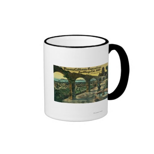 View of City from a Mission, Panama-CA Expo Coffee Mug