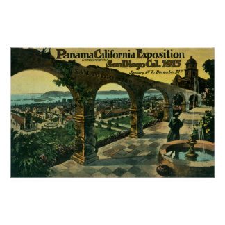 View of City from a Mission, Panama-CA Expo Poster