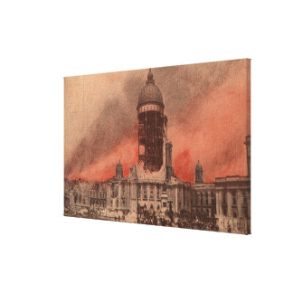 View of City Hall After Earthquake Canvas Print