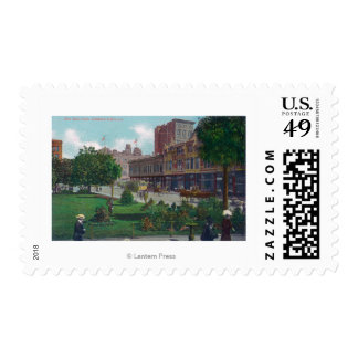 View of City Hall ParkOakland, CA Postage