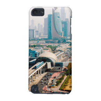 View of city metro line and skyscrapers iPod touch 5G cover