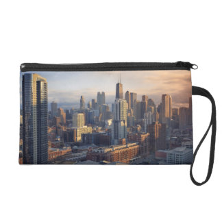View of cityscape with fantastic light wristlet purses