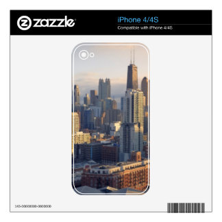 View of cityscape with fantastic light decal for iPhone 4