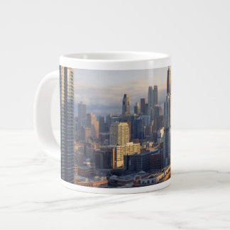 View of cityscape with fantastic light extra large mug