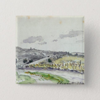 View of Clamart, 1864 Pinback Button