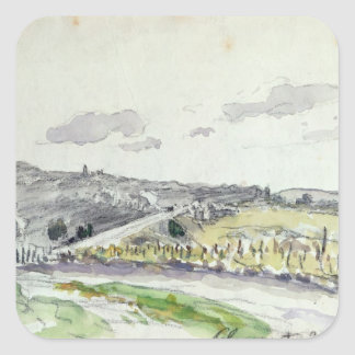 View of Clamart, 1864 Square Sticker