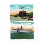 View of Cliff Beach Bath House Postcard