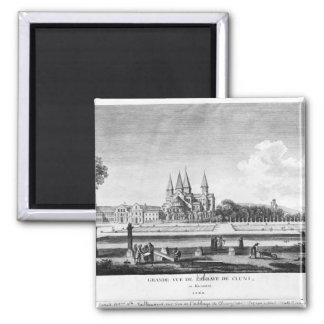 View of Cluny Abbey 2 Inch Square Magnet