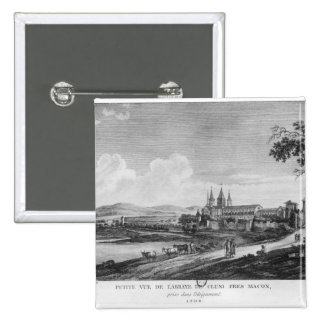 View of Cluny Abbey Pinback Button