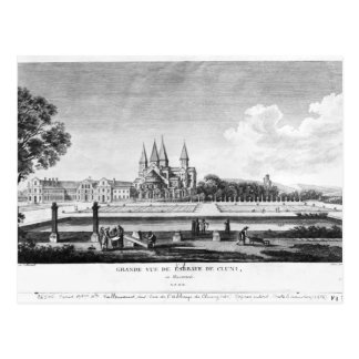 View of Cluny Abbey Postcard