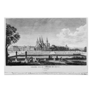 View of Cluny Abbey Poster