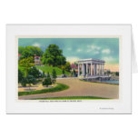 View of Coles Hill and Plymouth Rock Portico Greeting Card