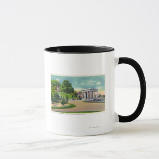 View of Coles Hill and Plymouth Rock Portico Mug